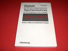 1980 BUCH STATISTIK FÜR PROGRAMMIERBARE TASCHENRECHNER 108 PROGRAMME 14 TABELLEN