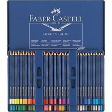FABER CASTELL ART GRIP AQUARELLE WATERCOLOUR PENCILS - 60 COLOUR TIN
