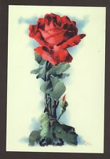 """I"" KLEIN FLOWER ALPHABET,RED ROSE,REPRODUCTION POSTCARD"