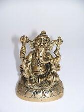 MESSING FIGUR GANESHA 8,5 x 6,5 cm neu. Ganesh Indische Gottheiten Indien Götter