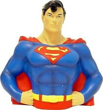 "DC SUPERMAN BUST BANK 8"" BRAND NEW GREAT GIFT MONEY BOX"