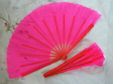 PAIR CHINESE L PINK RIGHT LEFT HAND GYMNASTICS EXERCISE JAPANESE TAIJI FAN DANCE