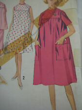 Vintage Simplicity 4857 MATERNITY DRESS TOP & SKIRT Sewing Pattern Women Sz 12