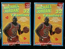 2X piece lot of Cleo Michael Jordan 32 Valentines, NOS/sealed