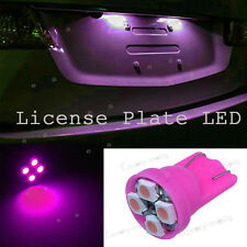 T10 4SMD LED Pink Purple 2825 W5W License Plate Lights Tag Bulb For Honda Accord