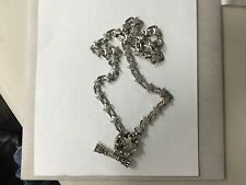 King Baby Sterling Silver 925 Stars and Stripes Toggle Chain Necklace - Heavy