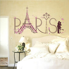 Removable Paris Eiffel Tower Art Decal Wall Sticker Bedroom Home Decor Mural DIY
