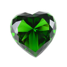 Longwin Green Heart Crystal Diamond Paperweight Wedding Anniversary Gift Decor