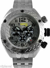 TECHNOSPORT TS-200-11 Silver Tone watch with Black Accents 50mm New Fast Ship