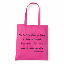 Art T-shirt, Borsa  George Best, Fucsia, Shopper, Mare