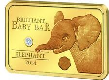 5$ 2014 Niue Island - Brilliant Baby Bar - Elefant