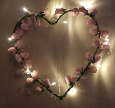 Rose heart with twinkling fairy lights - light up your heart