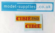 French Dinky 25c/561 Citroen Camionette Repro Waterslide Transfer Set Cibie