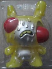 "◆Kidrobot 2013 CHRIS RYNIAK 8"" Meltdown Yellow Glow in Dark Dunny GID bone chase"