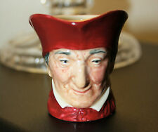 Royal Doulton 'Cardinal Wolsley' Miniature Character Jug c.1930's 5.5 cm high