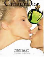 PUBLICITE ADVERTISING 104 1995  DIOR  eau de toilette femme TENDRE POISON