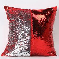 Double Color Sequin Reversible Mermaid Pillow Cover Glitter Sofa Cushion Case