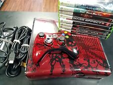Microsoft Xbox 360 S Gears of War 3 Limited Edition 320GB Console w/8 Games
