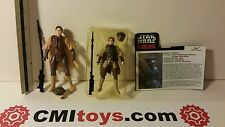 Star Wars POF2 & foreign 5 inch figure black Leia Boushh x 2