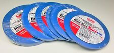 "1/8""(2),1/4""(4) Blue Fine Line Adhesive Tape Lot, 6 rolls total,  Hystik"