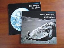 Lot de 2 livres en anglais: Story of the Earth & Moon, Mars and Meteorites