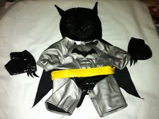 Build a Bear Batman Suit Sliver/Black/Yellow 4pc set