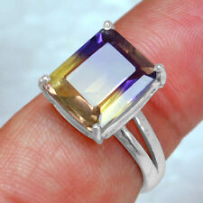 925 Sterling Silver Lovely Ametrine lab Cut Rings 7.25 US Jewelry svr0695 $