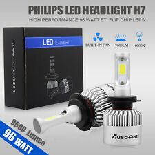 2pcs 96W 9600LM H7 PHILIPS LED Lamp Headlight Kit Car Beam Bulbs 6000k White 12V