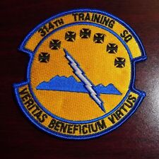 USAF FLIGHT SUIT PATCH,314TH TRAINING SQUADRON, WITH VELCR