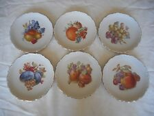 "SET OF 6 SCHUMANN ARZBERG 7 1/2"" FRUIT PLATES MADE IN GERMANY"
