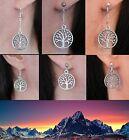 White Tree of Gondor Silver Earrings Lord of the Rings Hobbit Ringer Gift