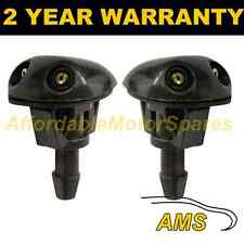 PAIR UNIVERSAL WINDSCREEN WASHER TWIN JET STRAIGHT INLET PUSH FITTING 4MM WWY5