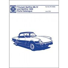 Triumph Spitfire Mk 4 & 1500 Parts Catalogue 1973-1974 paper book