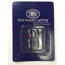 4 X Candle Type Bulbs 12v For Dolls House Lights DE025