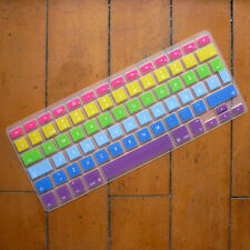 Swedish Sweden EU Rainbow Silicone Keyboard Cover For Retina/ Macbook Pro 13 15
