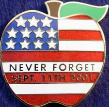 NEVER FORGET 9/11 PIN New York BIG APPLE 9/11 Tribute Memorial September 11th
