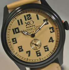 New XO Retro Mens British Spitfire Vintage WWII 1940 Military DNA Leather Watch