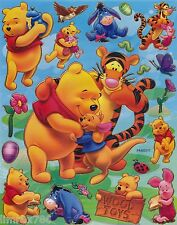 DISNEY POOH AND HAPPY FRIENDS  SCRAPBOOKING STICKERS OR ROOM DECO (BUY 5 FREE 1)
