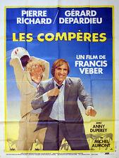 Affiche 120x160cm LES COMPÈRES (1983) Pierre Richard, Gérard Depardieu EC