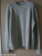 NWT $365 VINCE HST Grey Wool /Cashmere Sweater Size S