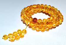35g 8mm Prayer Beads Authentic Baltic Amber Bracelet Necklace AH251MM8