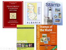 Albania Albanien Albanie stamp collection megapack : 5 catalogs and books