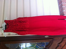Dress red lace LuLu's xs 0-2 racer back pencil prom wedding homecoming slit