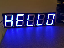 Arduino XXL 7-segment display - blue