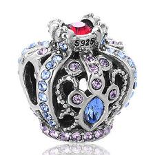 Royal Crown De Lujo Con Cristales Muy Brillantes plata encanto grano