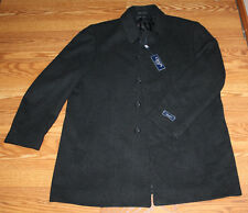 NWT Mens CHAPS Charcoal Gray Wool Button Front Coat Size 44 Reg $325