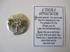 aa Dragonfly thank you TOKENS OF APPRECIATION Pocket token charm Ganz