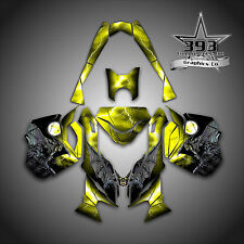 SKI-DOO REV XM SUMMIT SNOWMOBILE SLED GRAPHICS DECAL KIT WRAP GUARDIAN YELLOW