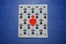 N°7 écusson insigne tissu patch religieux Sacré Cœur de Jésus Hermine Bretonne