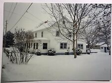 Vintage PHOTO Of A Cute House In The Winter Time w/ Snow Around